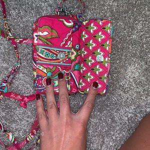 Vera Bradley Wallet Wristlet in Pink Swirls